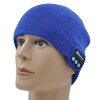 BLU Grand X (Blue) Unisex One Size Winter Bluetooth Beanie Hat with Built-in Wireless Stereo Speaker Headphone