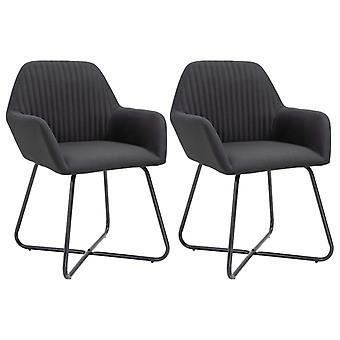 vidaXL Dining chairs 2 pcs. black fabric