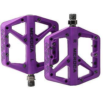 Ultralight Flat Mountain Bike Pedals Nylon Bicycle Pedal,purple(Purple)