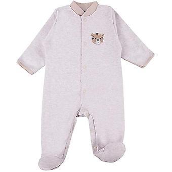 Baby Love Strampler für Mädchen Jungen - Newborn Frühchen - 100% Baumwolle - Langarm - Füßchen -