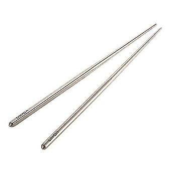 Camping cookware dinnerware 1 pair of titanium lightweight ultra-strong square reusable chopsticks with carrying pouch  utensils  195mm/230mm outdoor