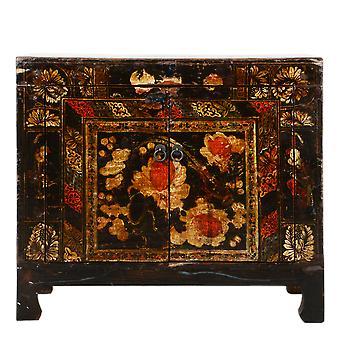 Fine Asianliving Antikk Kinesisk Skap Håndmalt W85xD40xH74cm