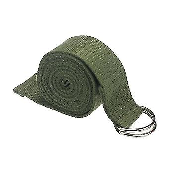 1.8mx3.8cm Yoga Strap Adjustable D-ring Durable Cotton Exercise Straps Buckle(Green)