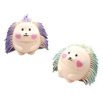 2Pcs april fools's day creative squeezing hedgehog prank vent
