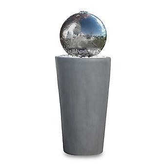Kugelbrunnen Gartenbrunnen Brunnen FoBoule grey mit Edelstahlkugel 75cm 10865