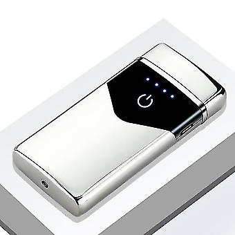 High Power Windproof Usb Rechargeable And Led Light Display Lighter