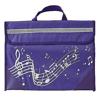 Tas - Muziekkleding: Wavy Stave Music Bag (Paars)
