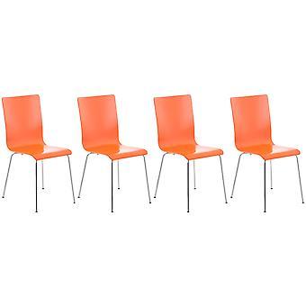 Eetkamerstoel - Eetkamerstoelen - Keukenstoel - Eetkamerstoel - Modern - Oranje - Metaal - 43 cm x 47 cm x 87 cm