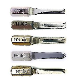 Locks latches professional car key locksmith tools 5pcs power key combination stainless steel hu101 hu64 hu100