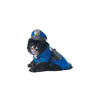 Dog apparel police dog pet costume - s