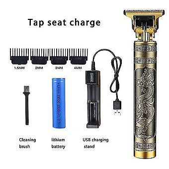 Kapper t-vormige kale tondeuse trimmer mannen oplaadbare grasmaaier t-vormige contour haar