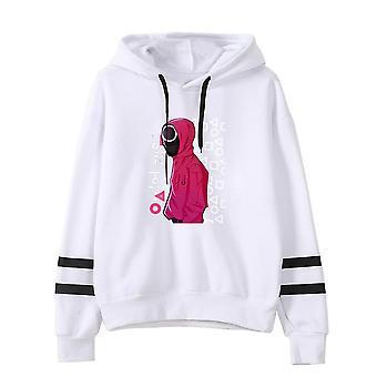 Squid game korean drama peripheral hooded sweater printed men's women's pullover christmas gift
