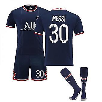 Herren Lionel Messi Paris Saint-germain 21/22 Home Jersey Trikots für Kinder Jugend