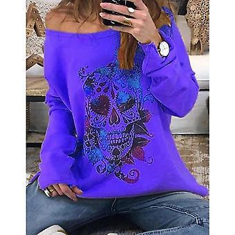 Sweat-shirt pull à manches longues New Skull Print