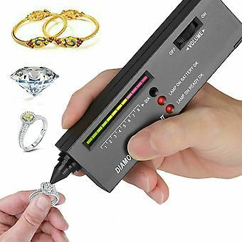 Sélecteur de testeur de diamants Outil de test de pierres précieuses de bijoux illuminés avec indicateur LED
