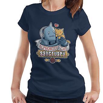 Alphonses 猫の聖域フルメタル錬金術師レディース t シャツ