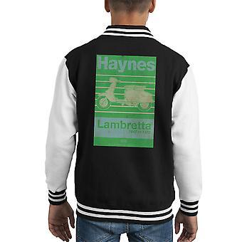 Haynes Owners Workshop Manual Lambretta 47 To 72 Distressed Kid's Varsity Jacket