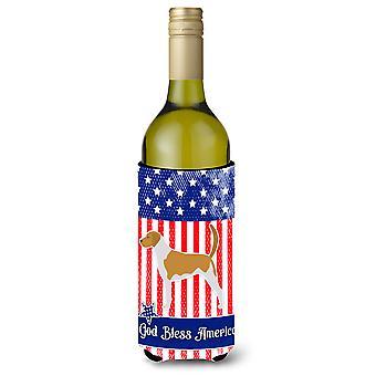 الولايات المتحدة الأمريكية الوطنية الأمريكية Foxhound زجاجة النبيذ بيفيرجي عازل نعالها