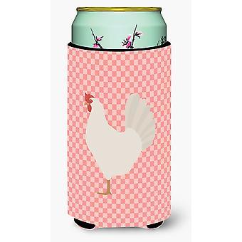 Livorno pollo rosa Check Tall Boy Beverage isolante Hugger