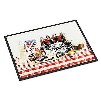 Carolines Treasures  1004MAT Barq's oysters Indoor or Outdoor Mat 18x27 Doormat
