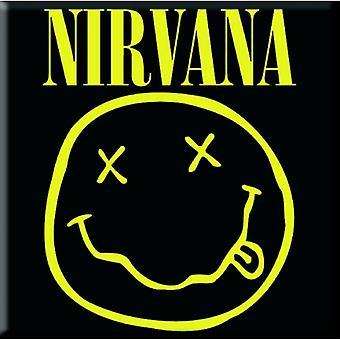 Nirvana Fridge Magnet Smiley face band logo new Official 76mm x 76mm