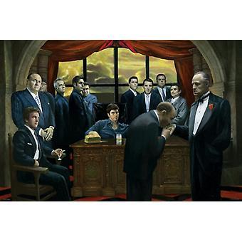 Mafia-Gangster-Plakat-Druck (36 x 24)