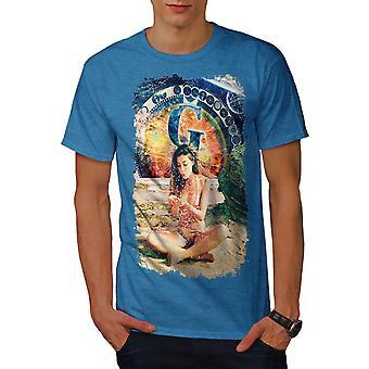 Sexig tjej utrymme mode män Royal Bluetooth-skjorta | Wellcoda