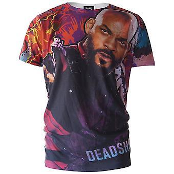 Suicide Squad Mens Deadshot Graffiti T-Shirt