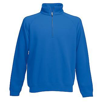 Vrucht van de Loom Mens Premium 70/30 Zip hals Sweatshirt