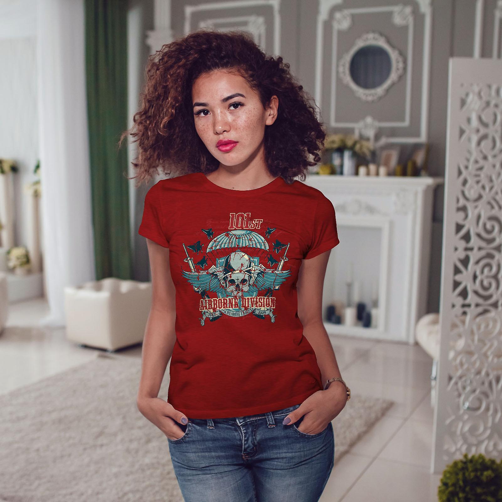Division aéroportée crâne RedT-chemise femme   Wellcoda