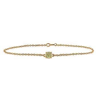 Gemondo Amour Damier 9 kt gul guld 0,64 ct Peridot skakternet 19cm armbånd