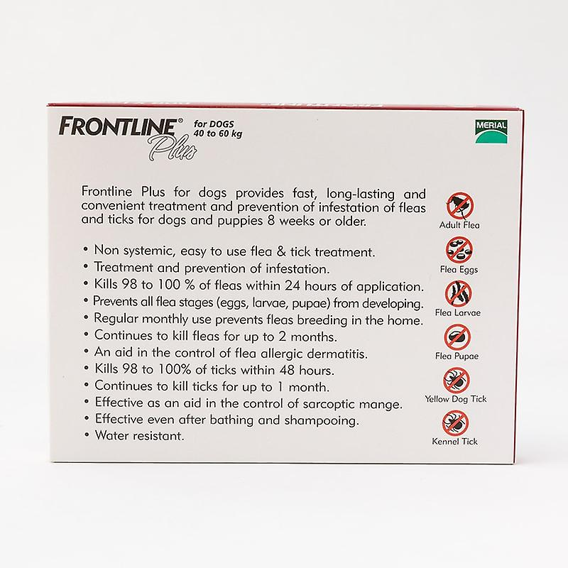 Frontline Plus X-Large Dogs 88-132lbs(40-60kg), 3 Pack