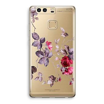 Huawei P9 gjennomsiktig sak (myk) - pene blomster