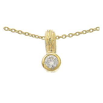 Orphelia Silver 925 Pendant With Chain Goldplated Zirconium  ZH-6025/2