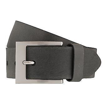 BERND GÖTZ belts men's belts leather belt grey 6384