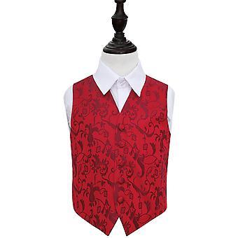 Burgunder Floral bryllup vest for gutter