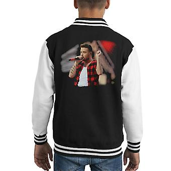 Liam Payne Of One Direction Murrayfield Stadium 2014 Kid's Varsity Jacket