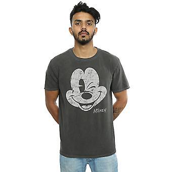 Disney miesten Mikki Hiiri ahdistuneita kasvot pestä t-paita