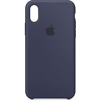 Emballage d'origine Apple Silicone Microfibre pochette pour iPhone X/XS - midnight bleu