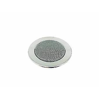 Omnitronic CS-2.5C Flush mount speaker 6 W 100 V Silver 1 pc(s)