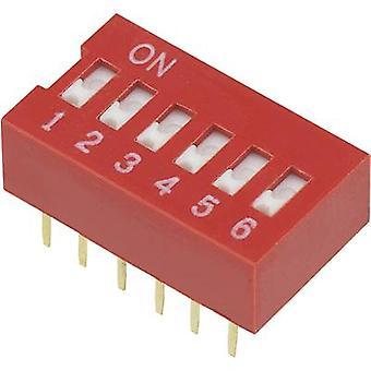 TRU COMPONENTS DSR-06 Interruttore DIP Numero di pin 6 Slide-type 1 pc(s)