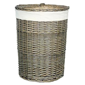 Large Antique Wash Round Laundry Basket