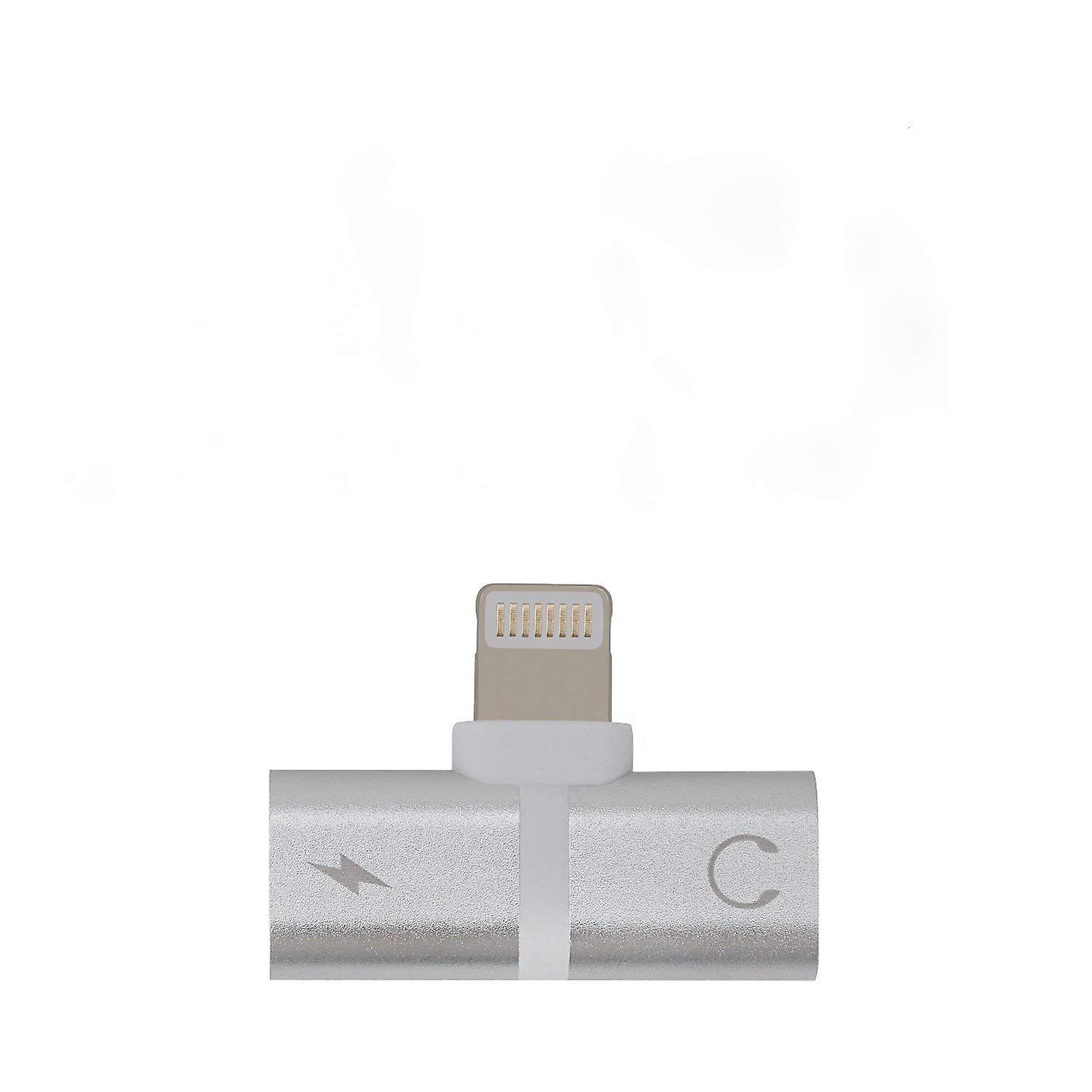 iPhone Adapter Splitter, 2 in 1 Dual Lightning Audio & Charge Adapter