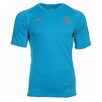 2018-2019 Olympique Marsilia Puma Training Jersey (albastru)