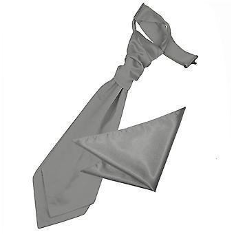 Platinum Plain Satiini Cravat & taskussa neliön asettaa pojille
