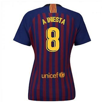 2018-2019 Barcelona Home Nike damesshirt (een Iniesta 8)