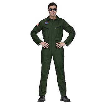 Aviator Naval Fighter Navy Pilot Official Look Jumpsuit Mens Costume OS