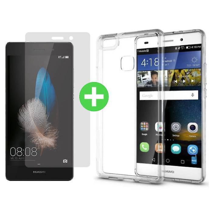 Stuff Certified ® Huawei P8 Transparent TPU Case + Screen Protector Tempered Glass