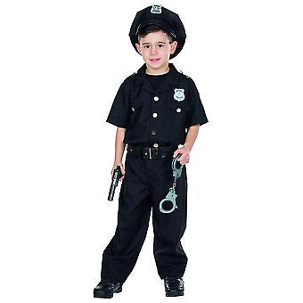 Politibetjent betjent kostume børn carnival karneval COP politi