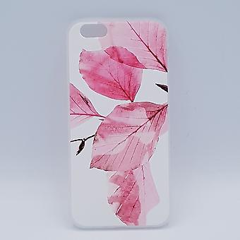 For IPhone 6/6S pouch-pink leaves